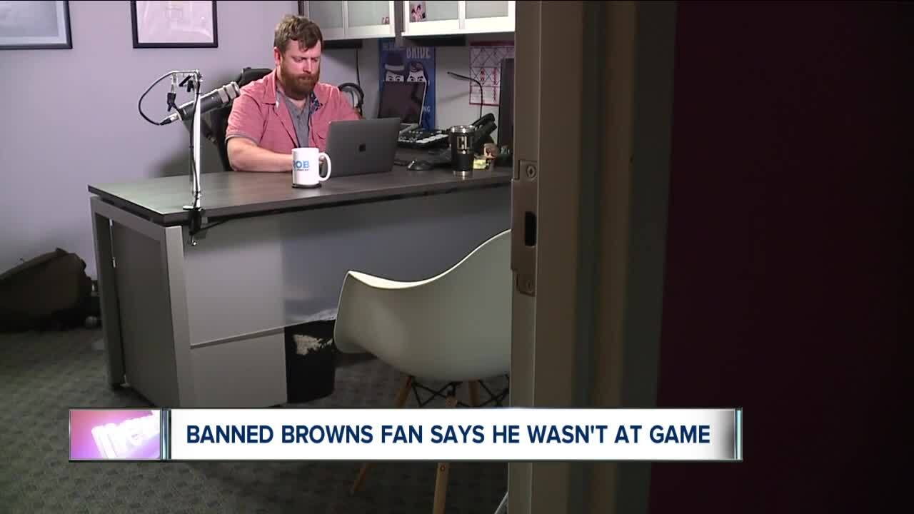Browns fan banned for dumping beer on Titans player says he wasn't even at game