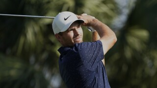 Aaron Wise hits from seventh tee during second round of 2021 Honda Classic