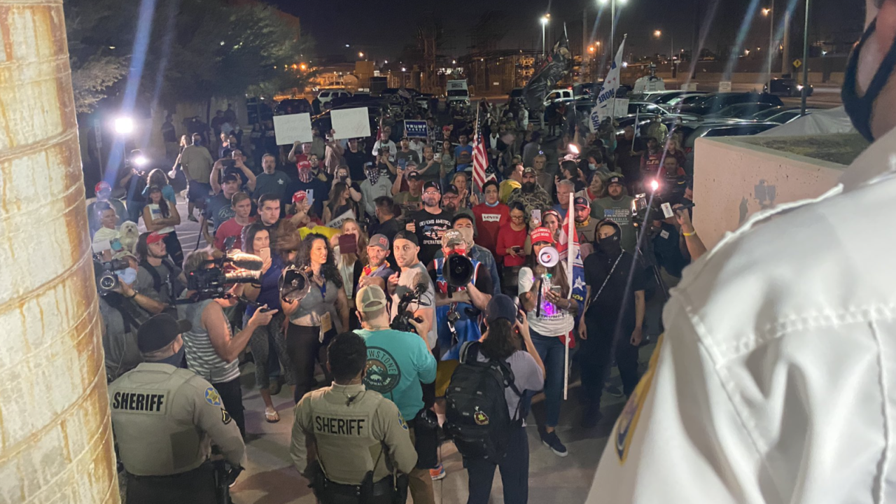 Protest outside Maricopa County Recorder's Office