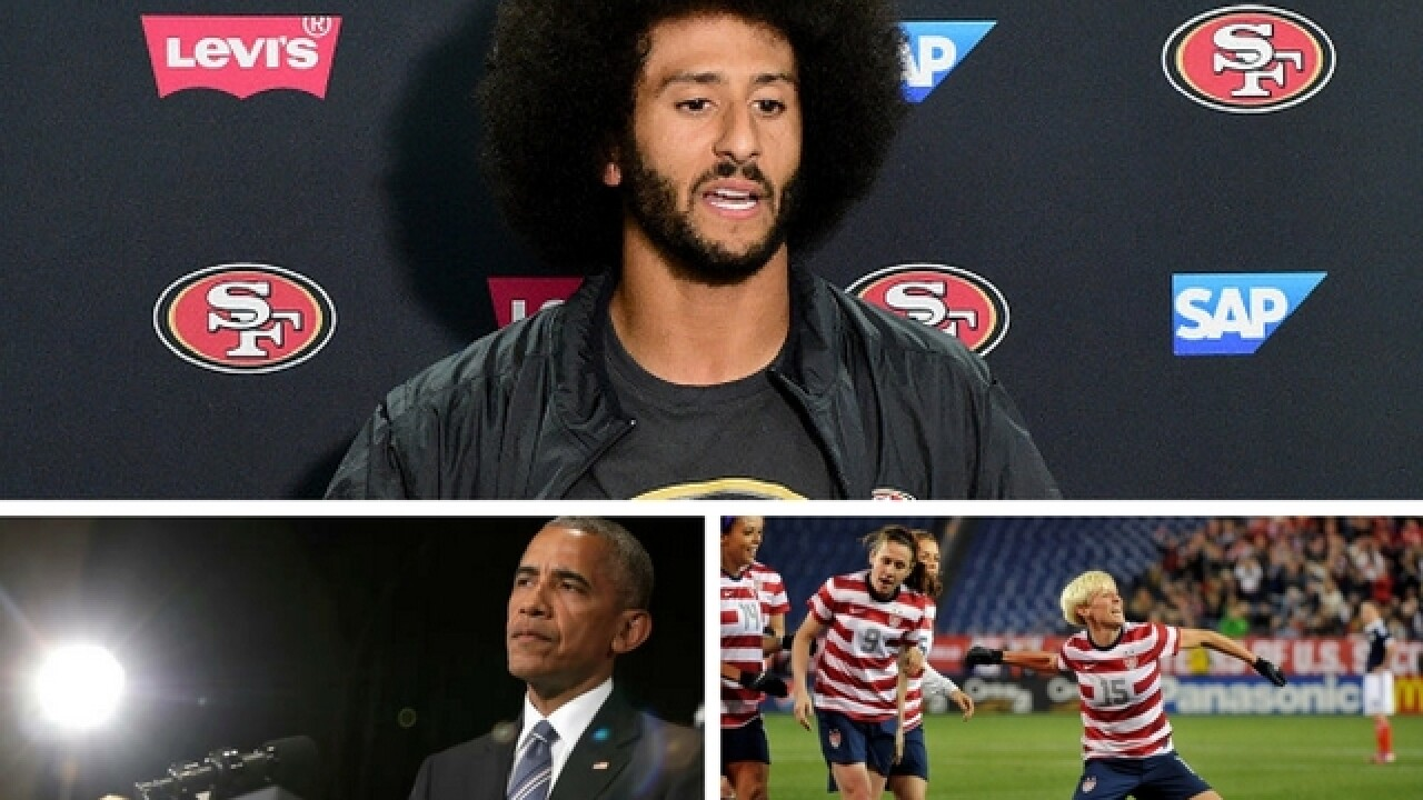 President Obama, Megan Rapinoe say they stand with Kaepernick