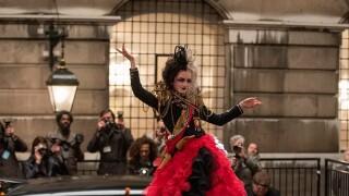 Emma Stone in scene from 'Cruella'
