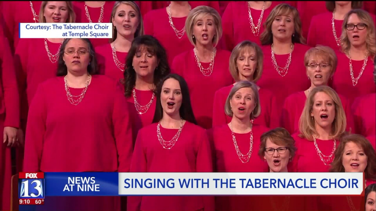 Behind the scenes, contest winners sing with The Tabernacle Choir at Temple Square