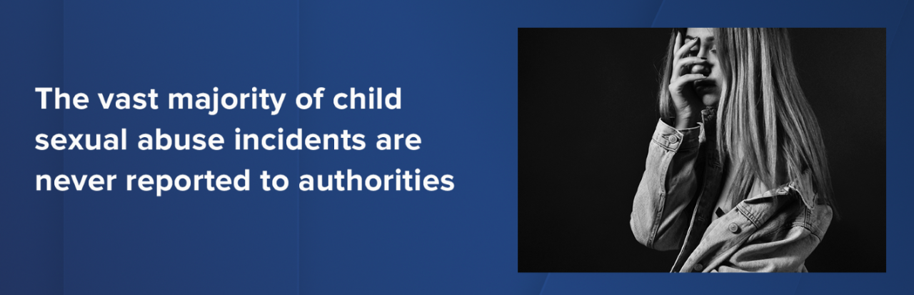 Vast majority of child sex abuse cases not reported to authorities.PNG
