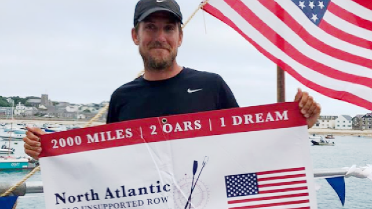 Teacher completes solo row across North Atlantic