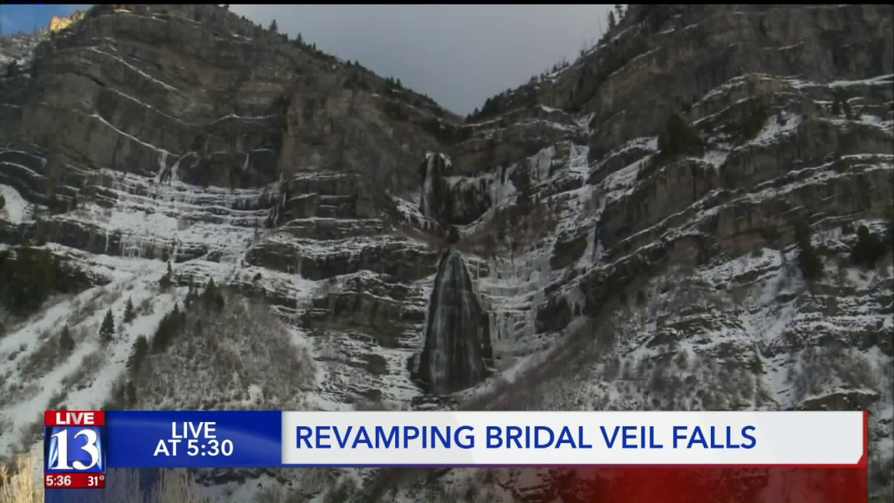 Utah County approves plan to revamp Bridal Veil Falls area