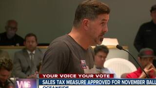 Sales tax measure approved for November ballot