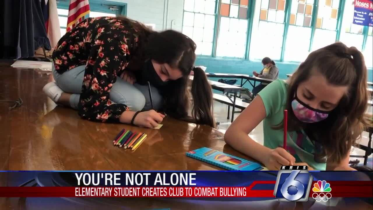 """You're Not Alone"" club at Menger Elementary School"