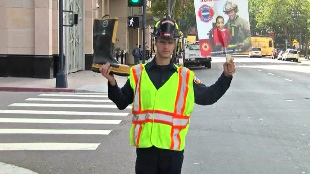 Firefighters from across San Diego County take part in annual Fill the Boot Drive for MDA