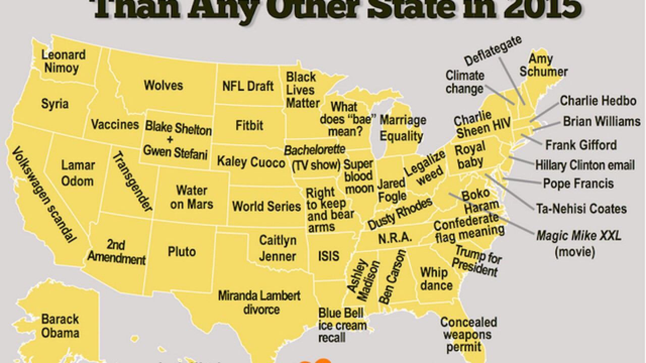 List: Most-Googled search terms in every state