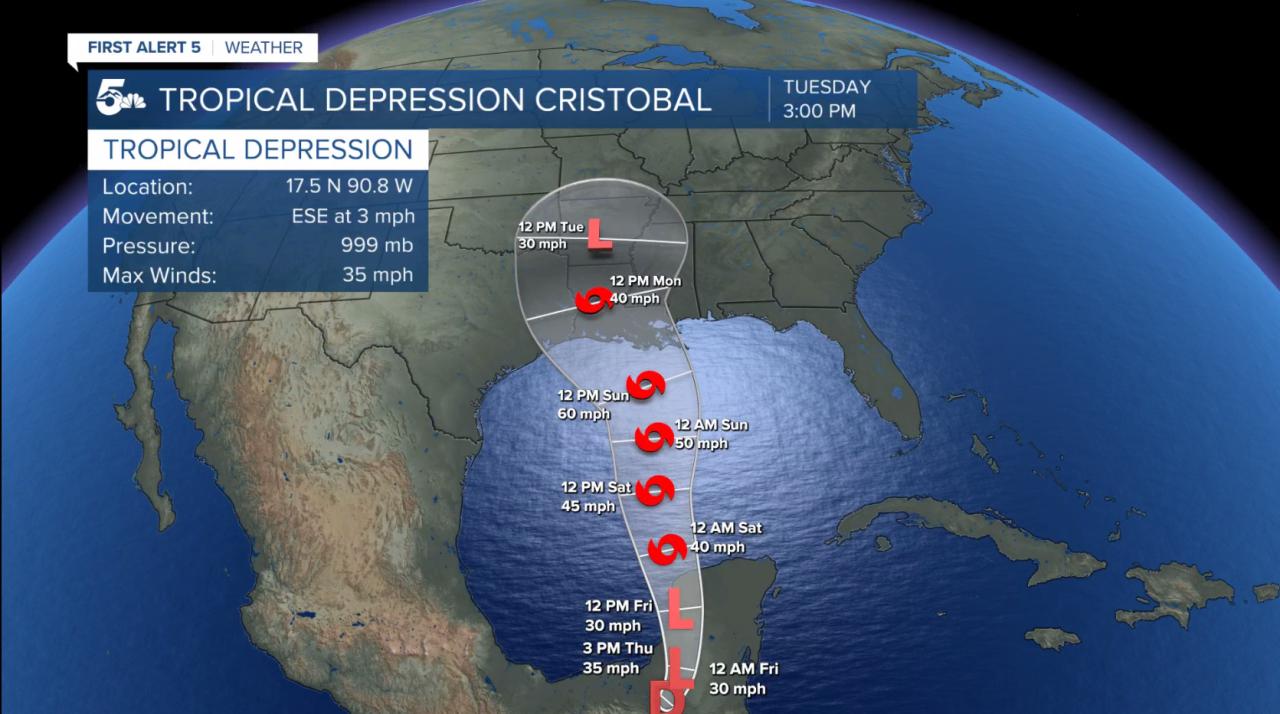 TD Cristobal forecast