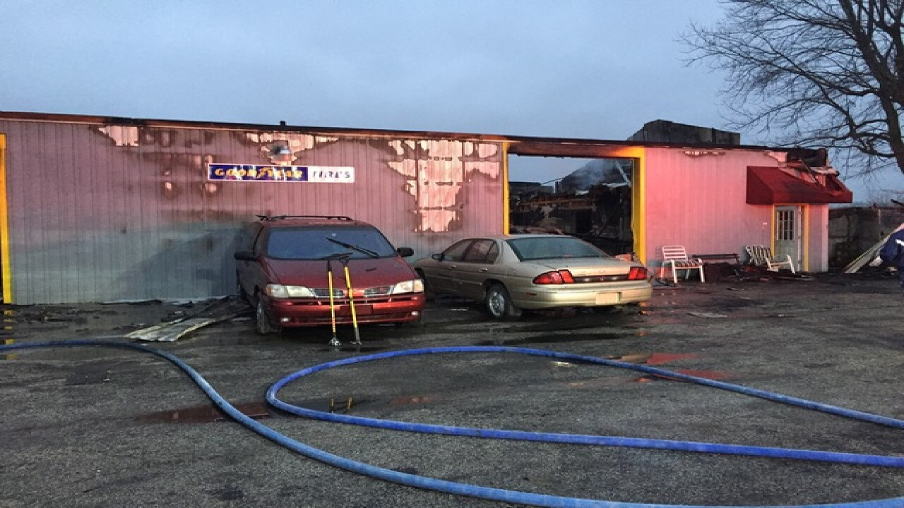 Cicero auto shop lost after morning fire