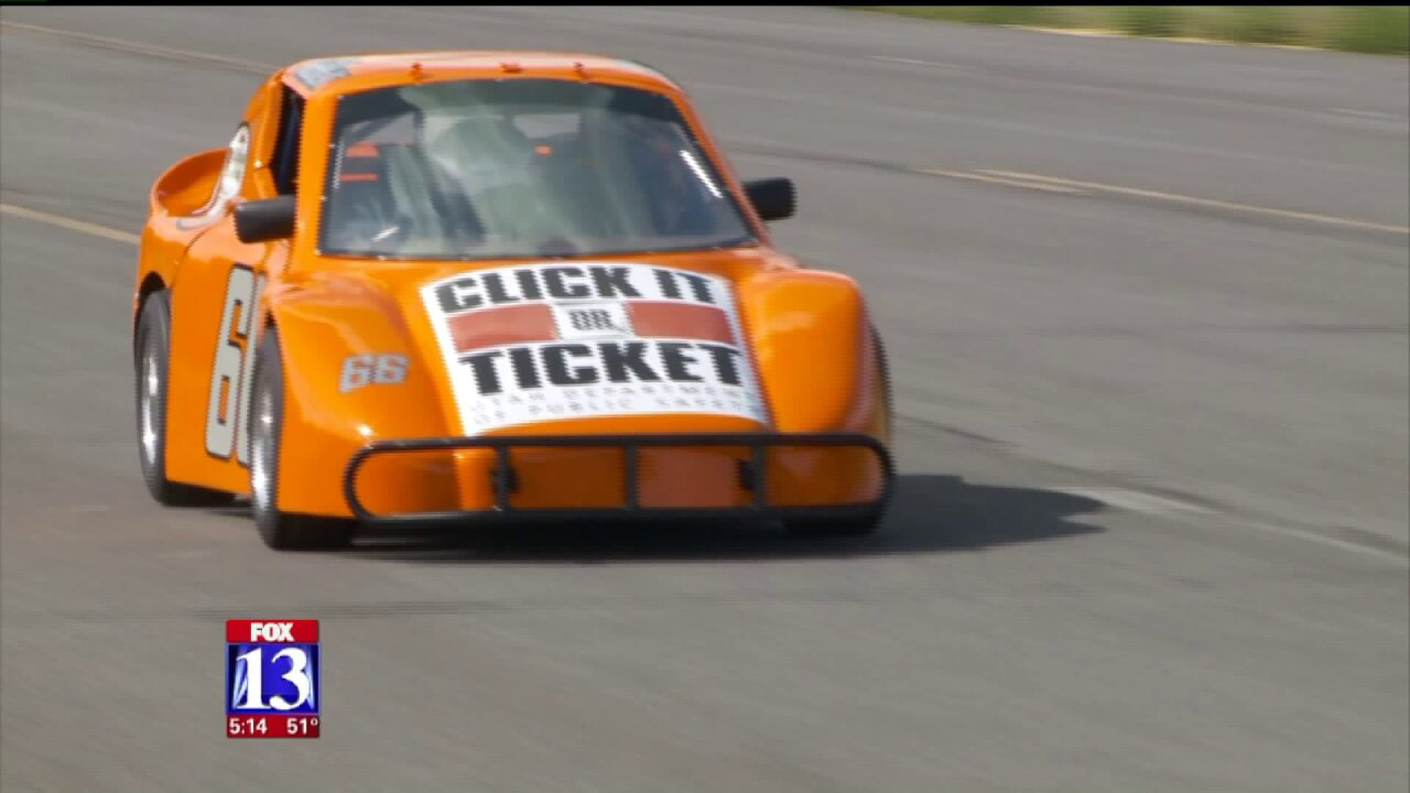 Young race car driver joins Click It or Ticket campaign to save lives inUtah