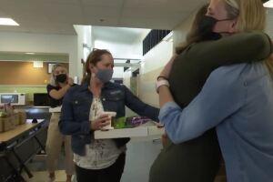 Parents divided over masks unite to buy teachers dinner