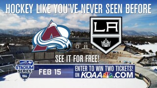 Enter to win two tickets to the NHL Stadium Series at the US Air Force Academy.