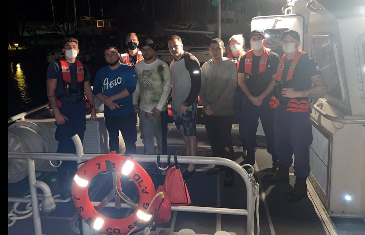 Coast Guard rescues four after boat overturns under Sunshine Skyway