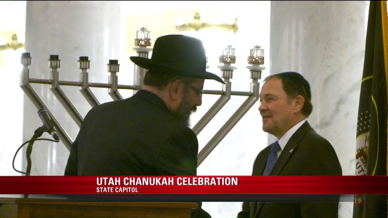 Gov. Herbert celebrates Chanukah with Utah's JewishCommunity