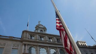 US flag lowered to half-staff