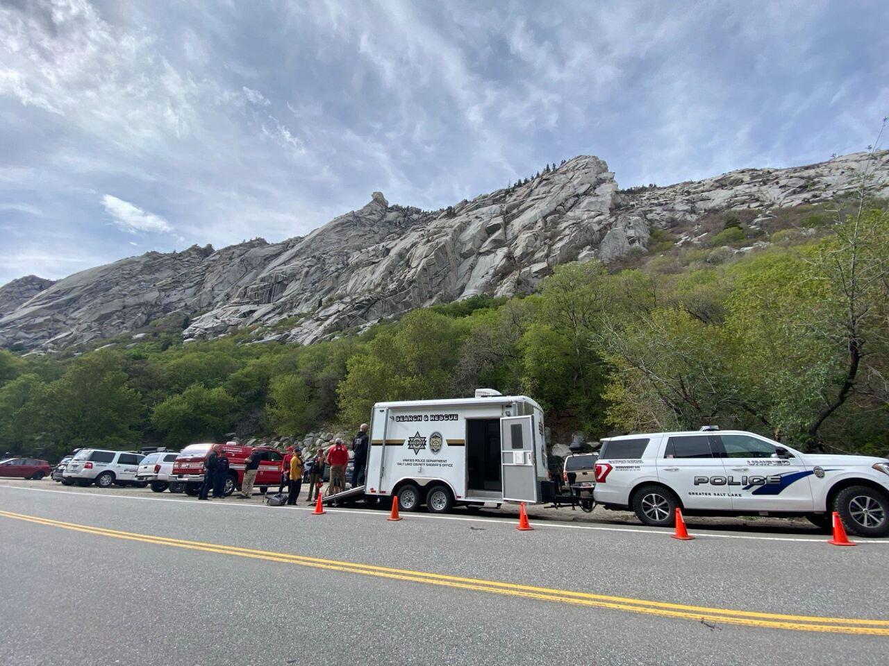 Salt Lake County climber rescue
