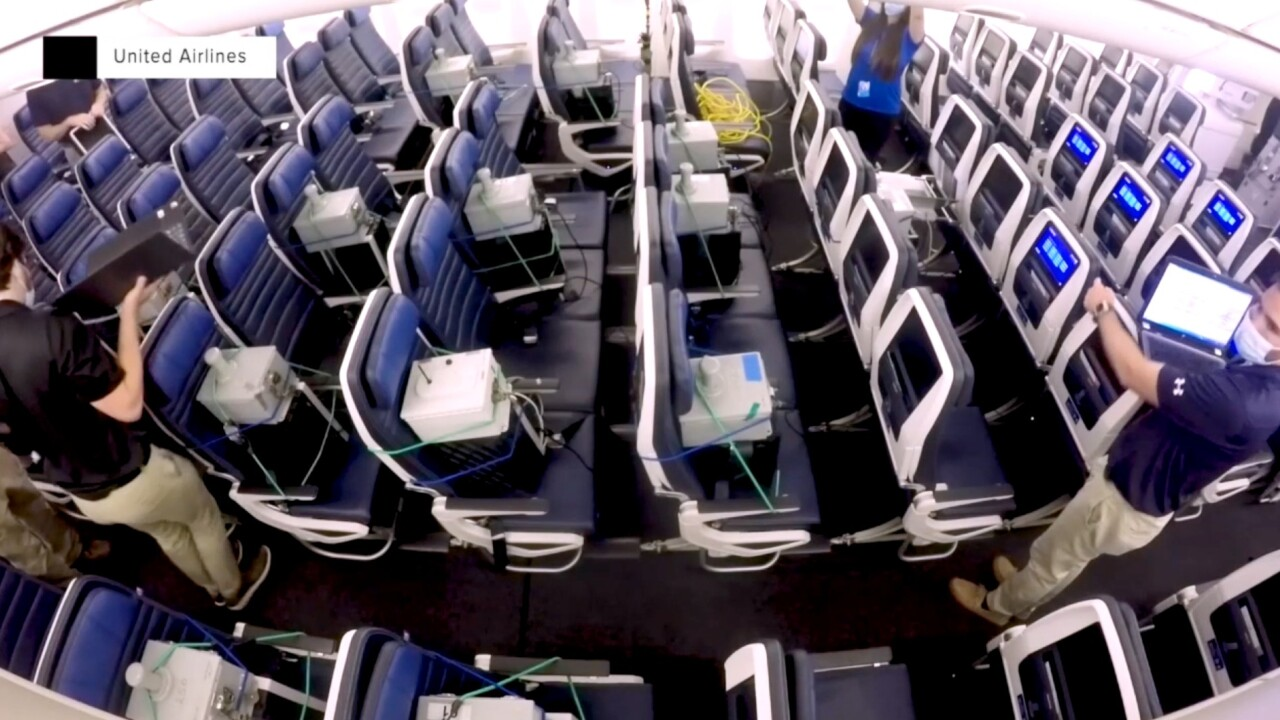 Study shows risk of coronavirus exposure may be low when wearing masks on planes