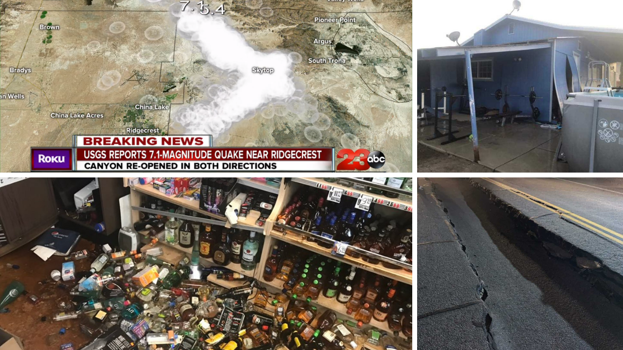 USGS: 7 1 magnitude earthquake near Ridgecrest