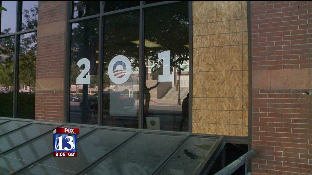 President Obama's SLC campaign headquarters vandalized
