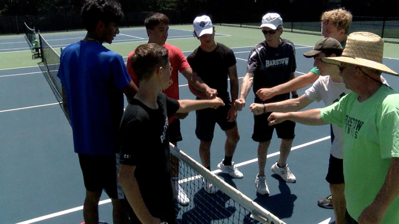 Barstow boys tennis team