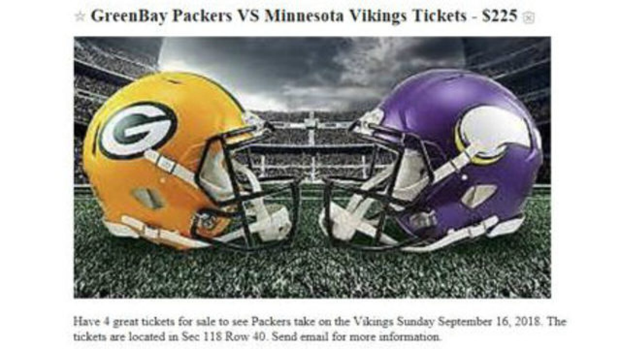 Police warn of Packers ticket scams during football season