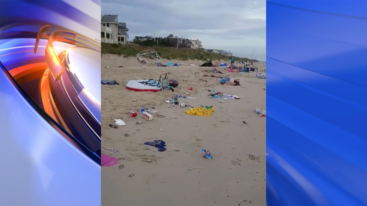 Large amounts of trash left on beach after 'Floatopia' upsets Virginia Beach residents