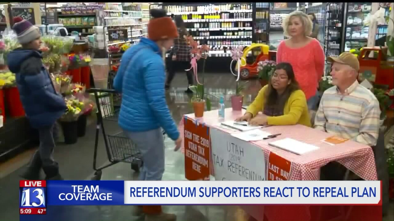 Tax referendum supporters react to repealplan