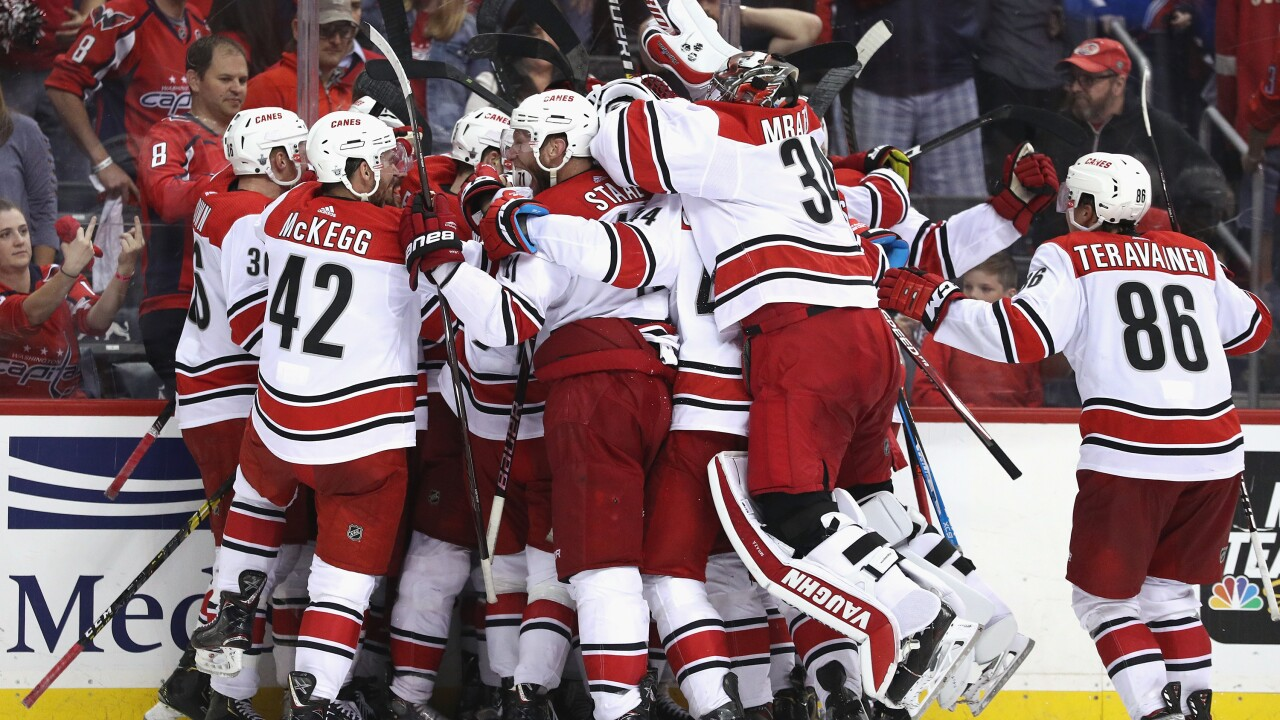 Over in overtime: Caps' Cup reign comes to an end in overtime loss vs. Carolina