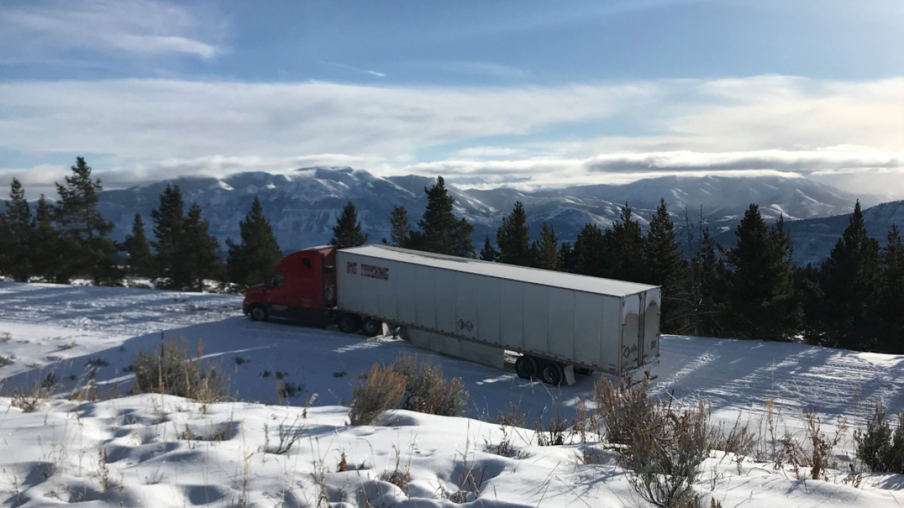 Semi driver following GPS gets stuck on snowy Beartooth Highway