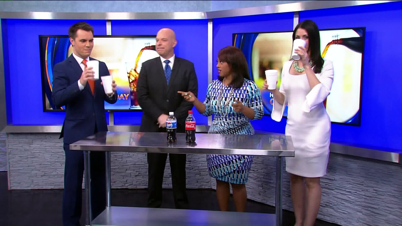 News 3 This Morning does the Pepsi vs. Coke challenge for National Have a CokeDay!