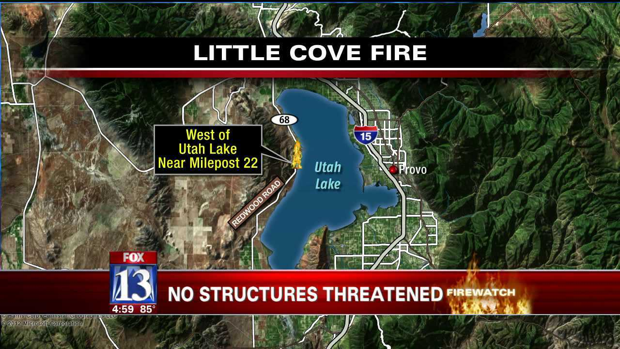 Crews contain 'Little Cove' wildfire near Saratoga Springs