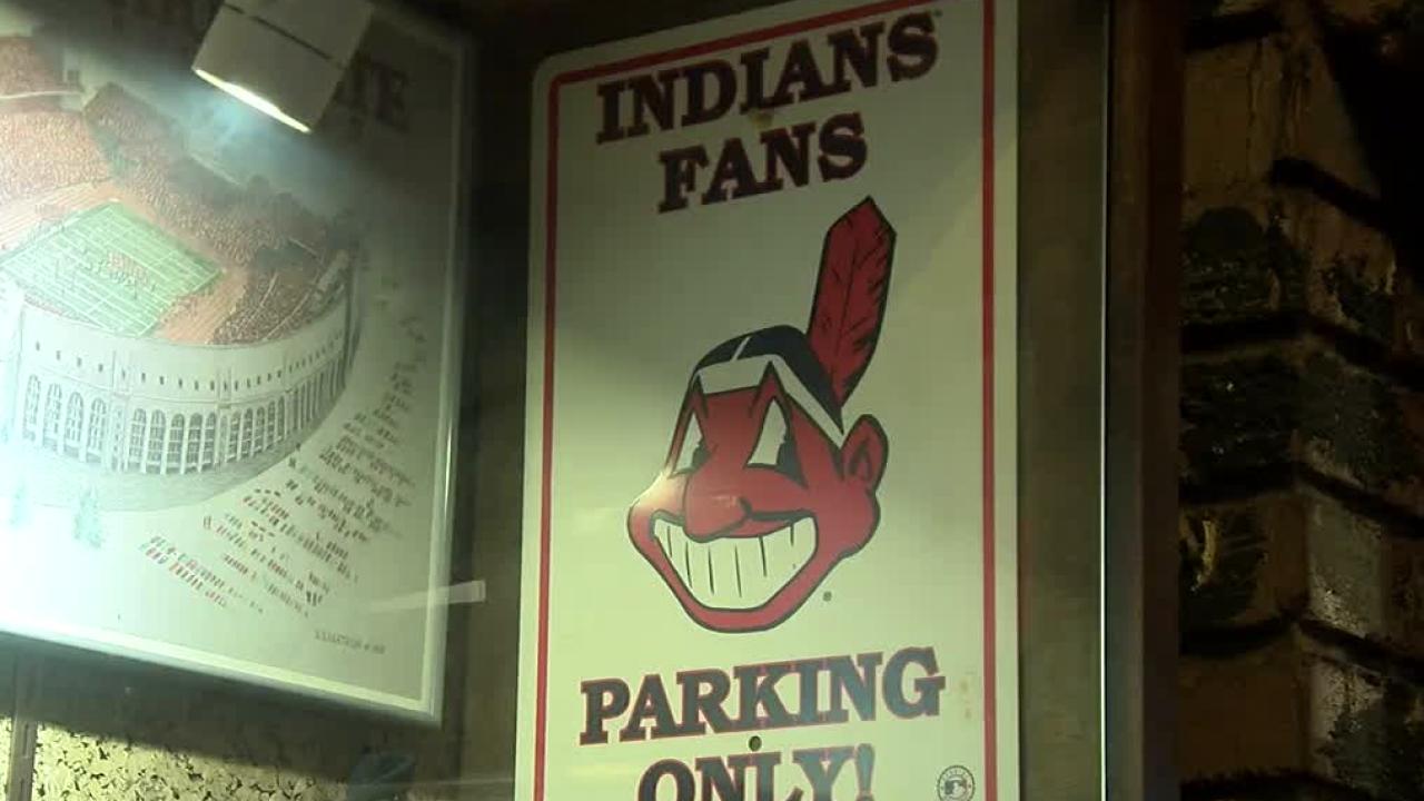 Clevelands Indians sign
