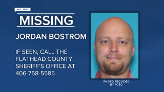 Jordan Bostrom of Helena was reported missing in the Polebridge area on Sunday afternoon