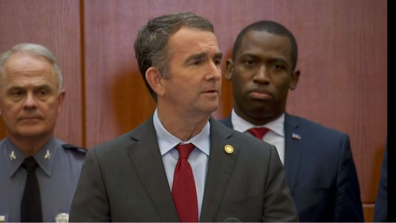 Watch: Gov. Northam declares temporary emergency banning all weapons from Capitol grounds