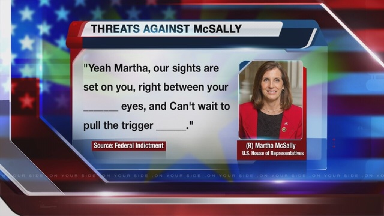 3dd2acc6252 Not guilty plea for man charged with threats against McSally