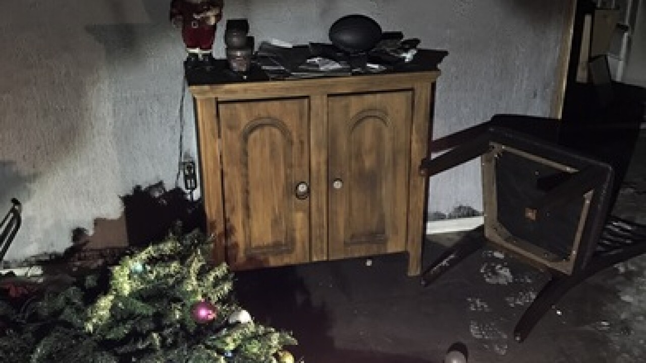 Veteran's home set on fire, vandalized