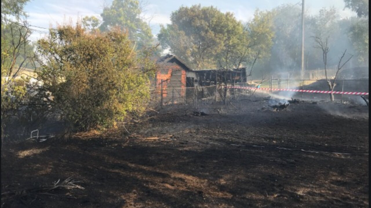 "Home a ""total loss"" after grass fire started by juveniles"