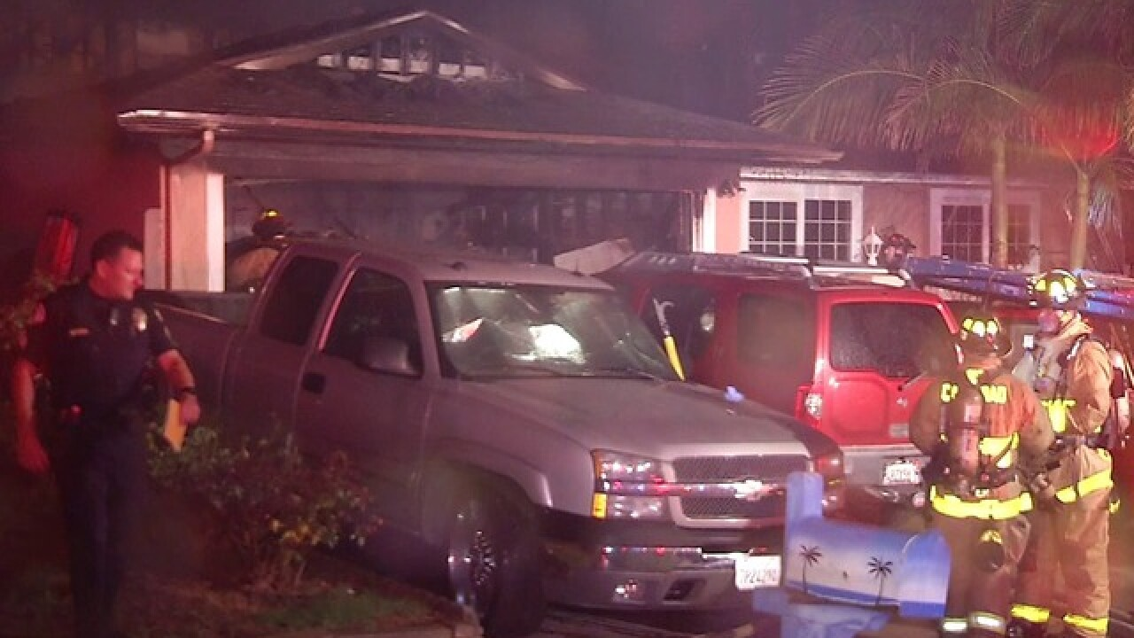 Fire tears through Oceanside home