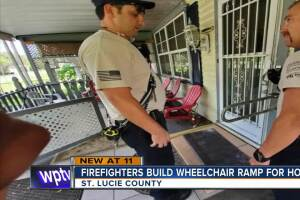 St. Lucie County firefighters build wheelchair ramp for home