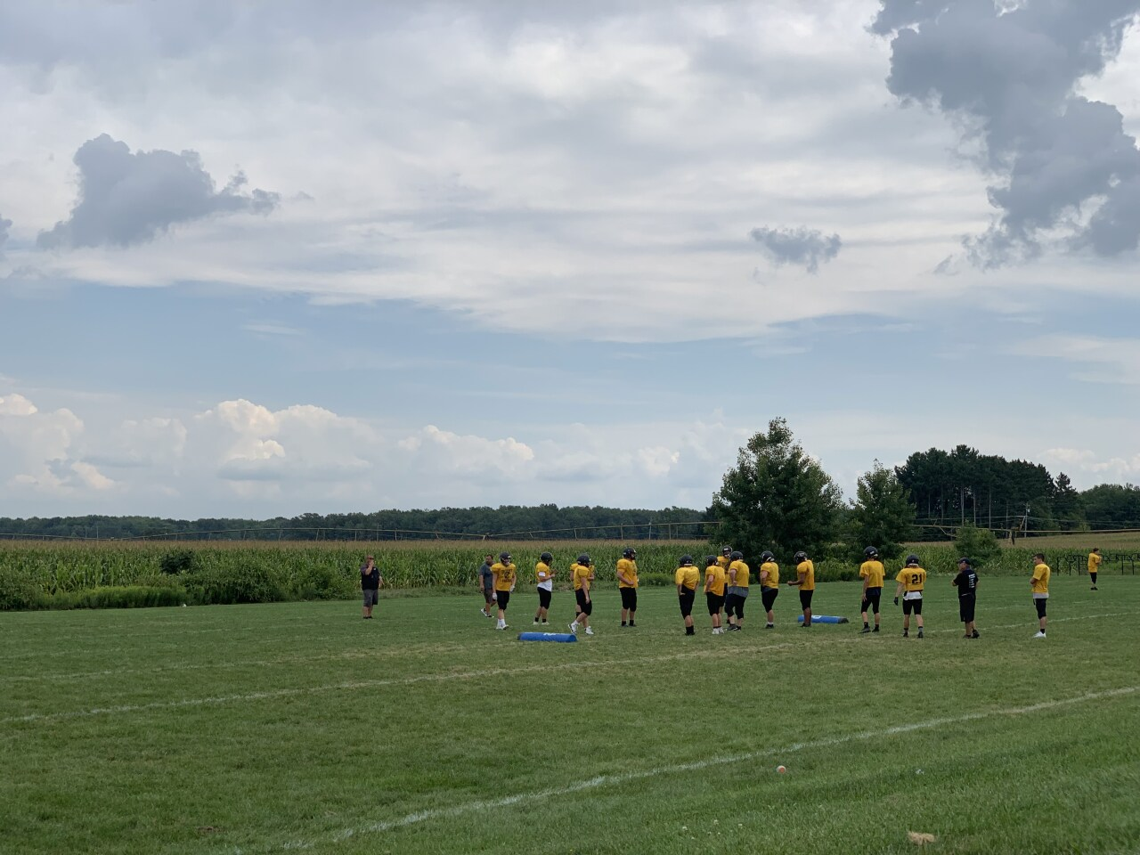 Tri County football practice