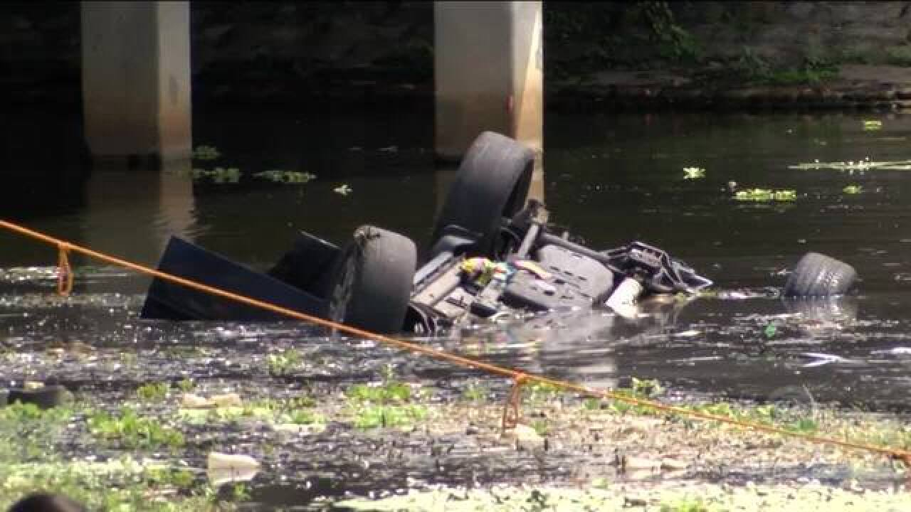 One person hospitalized after car plunges into canal in West Palm Beach