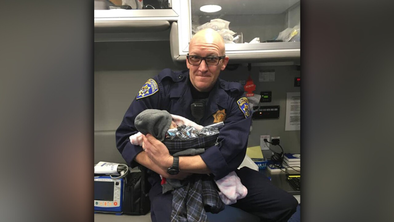 Sacramento CHP officer finishing traffic stop delivers baby on freeway