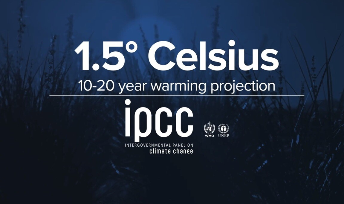 IPCC global temperature projection 10 to 20 years