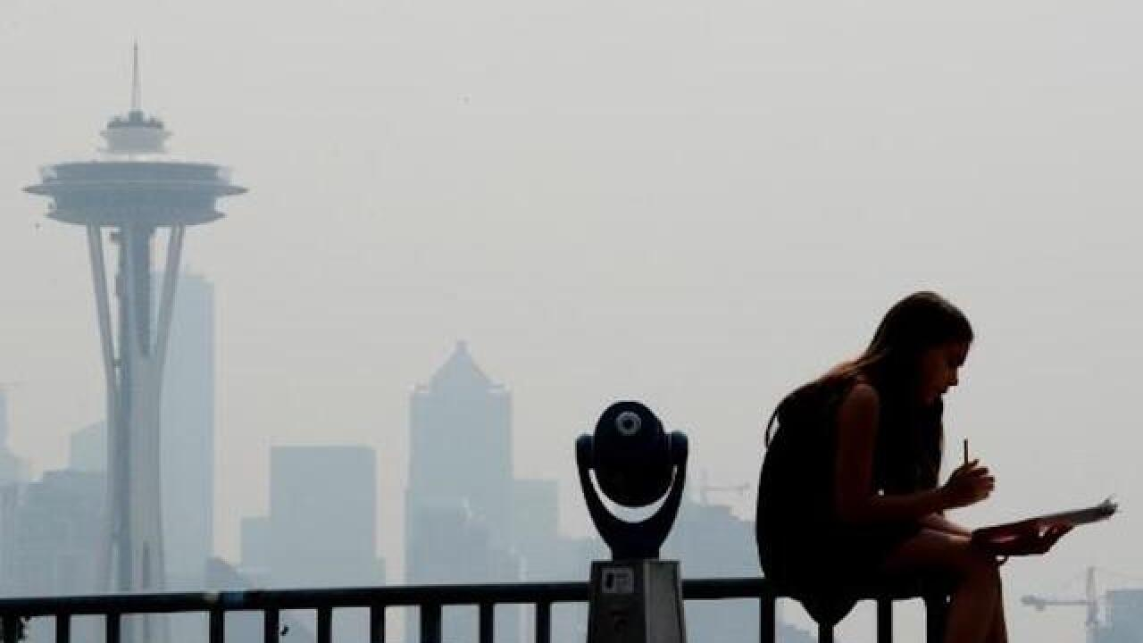 Smoke from wildfires is polluting parts of the West
