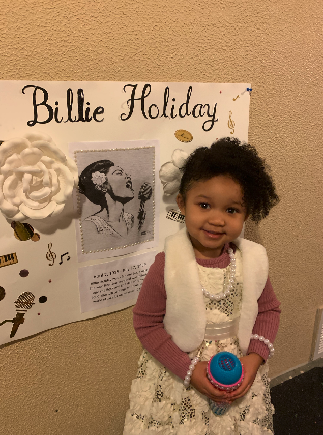 Daycare Kids Dress Up for Black History Month