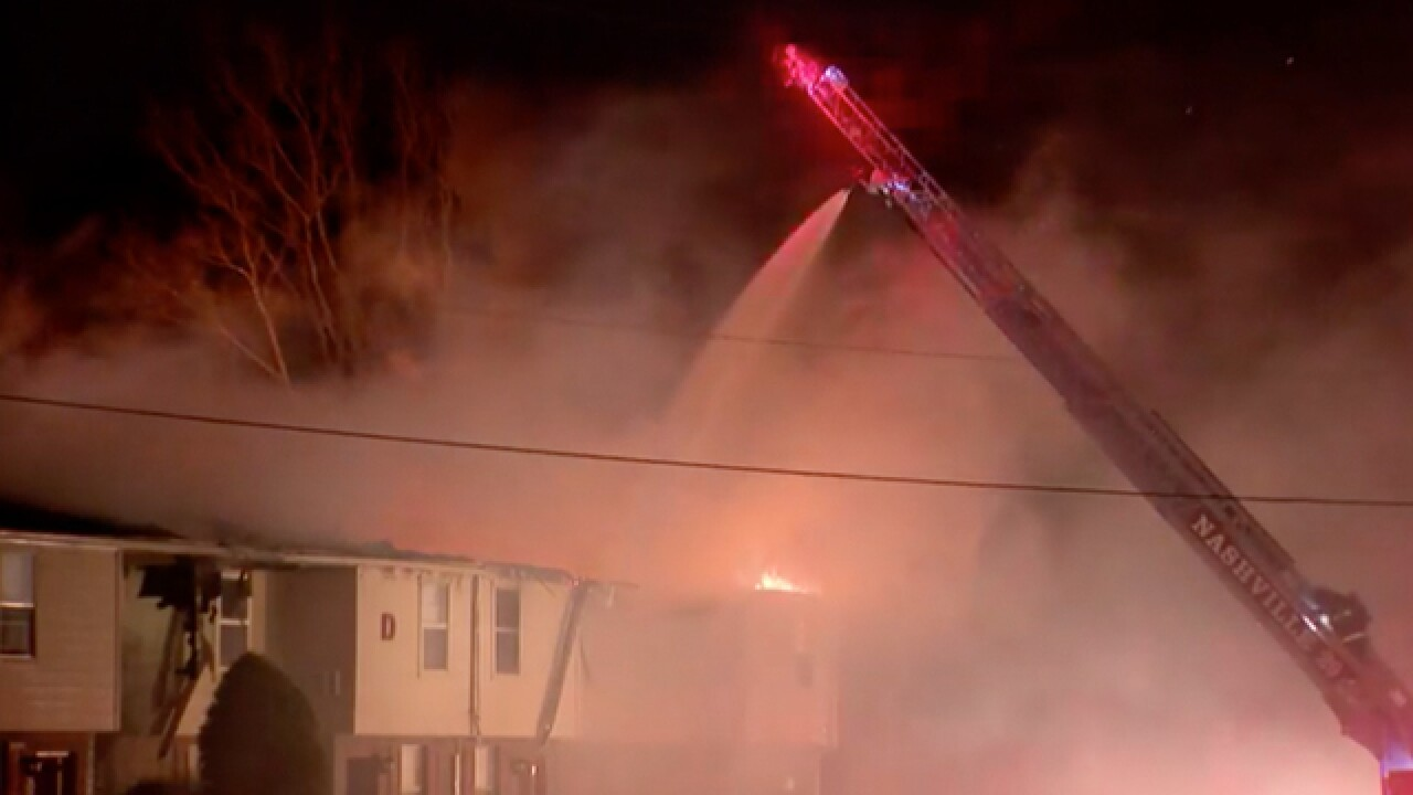 Crews Battle Madison Apartment Fire