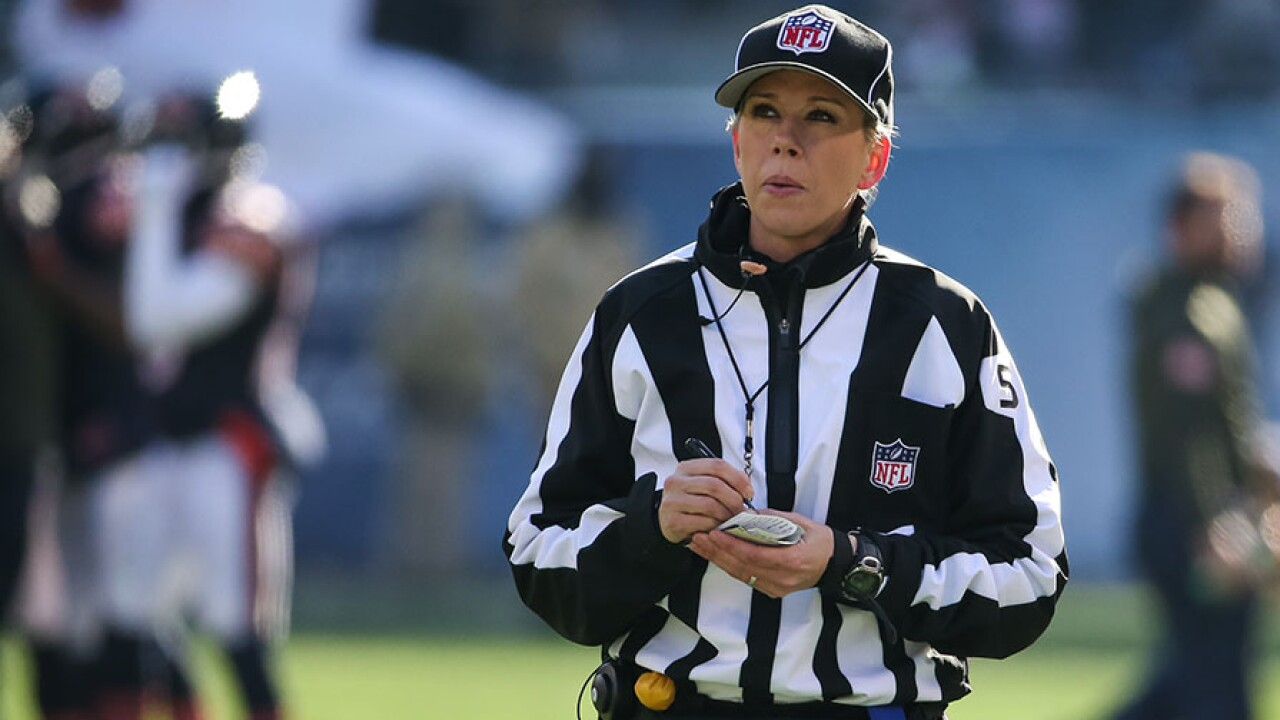 ca879518bca Sarah Thomas to become the first woman to officiate an NFL playoff game