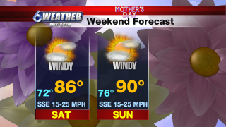6WEATHER Mother's Day Weekend Forecast